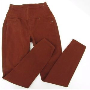Spanx SOLACE rust colored jeans leggings, Size S